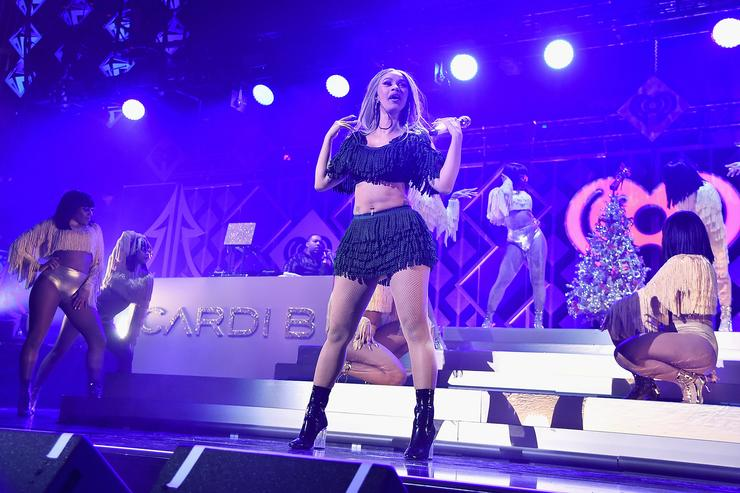 Cardi B performs at Z100's Jingle Ball 2018 at Madison Square Garden on December 7, 2018 in New York City