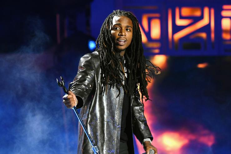 Jacquees performs onstage during the 2018 Soul Train Awards, presented by BET, at the Orleans Arena on November 17, 2018 in Las Vegas, Nevada.