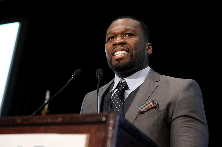 Curtis '50 Cent' Jackson speaks onstage during Tuesday's Children Roots of Resilience Gala 2015 on September 10, 2015 in New York City