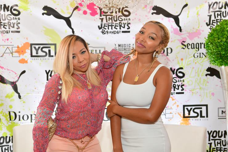 Tameka Harris and Zonnique Pullins attend Young Thugs 25th Birthday and PUMA Campaign on August 15, 2016 in Atlanta, Georgia