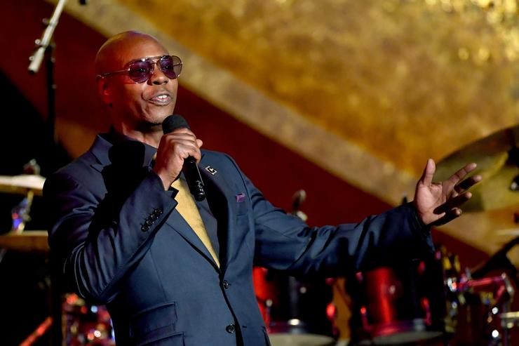 Dave Chappelle speaks onstage at Q85: A Musical Celebration for Quincy Jones at the Microsoft Theatre on September 25, 2018 in Los Angeles, California.