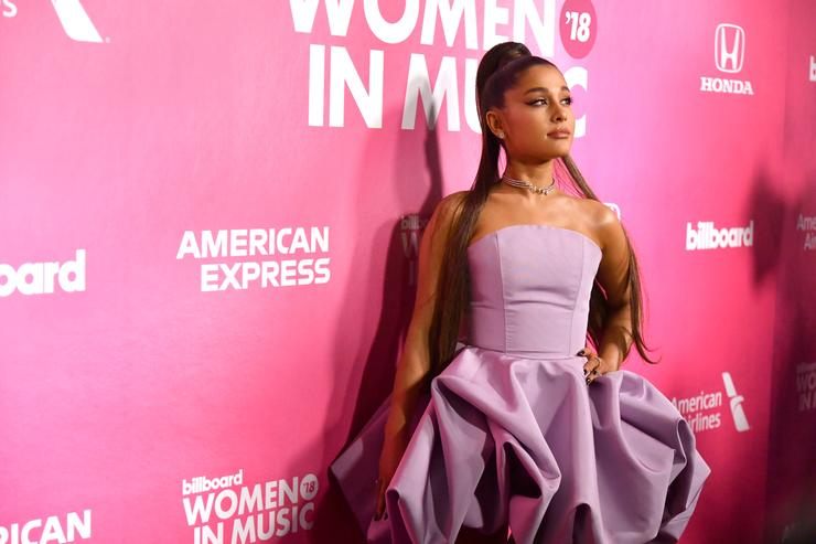 Ariana Grande attends the Billboard Women In Music 2018 on December 06, 2018 in New York City