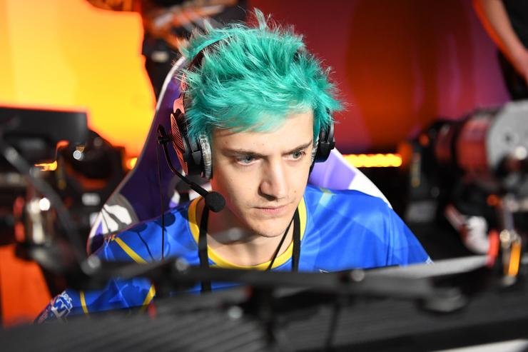 Tyler 'Ninja' Blevins plays Call of Duty: Black Ops 4 during the Doritos Bowl 2018 at TwitchCon 2018 in the San Jose Convention Center on October 27, 2018 in San Jose, California.