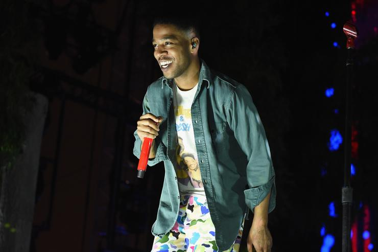 Kid Cudi performing at Camp Flog Gnaw
