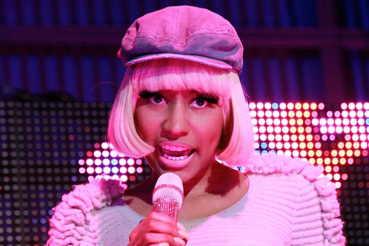 Nicki Minaj performs on stage at the Samsung Infuse 4G launch event at Milk Studios on May 12, 2011 in Los Angeles, California