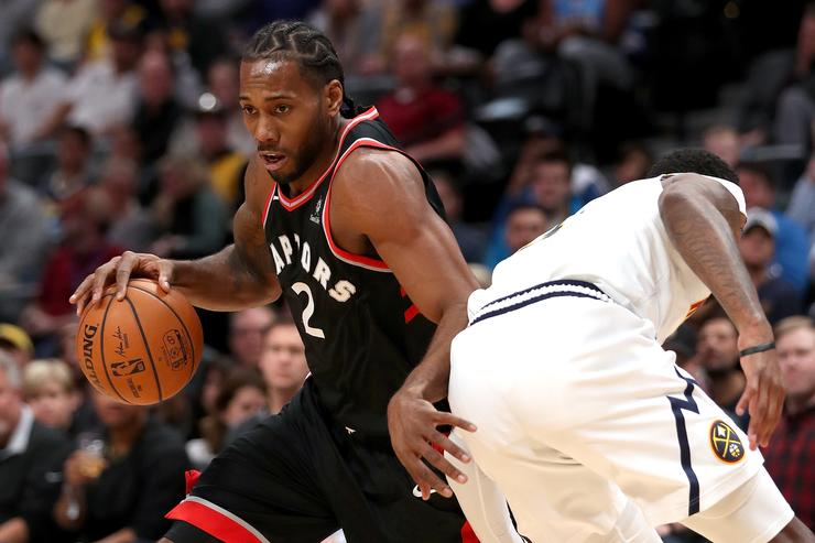 Kawhi Leonard's mother appears to yell at heckler during Raptors-Spurs game