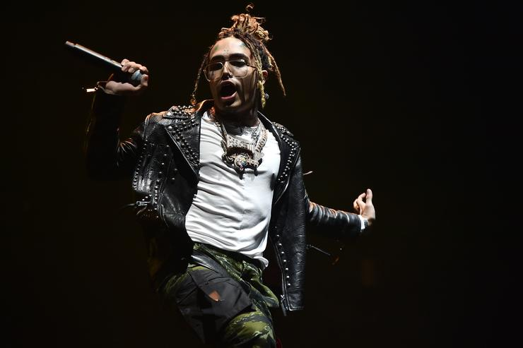 Lil Pump performs at Barclays Center on December 29, 2018 in New York City
