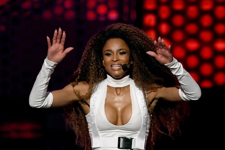 Ciara performs onstage during the 2018 American Music Awards at Microsoft Theater on October 9, 2018 in Los Angeles, California