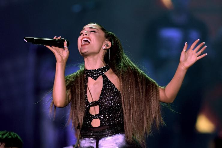 Ariana Grande performs onstage during the 2018 iHeartRadio by AT&T at Banc of California Stadium on June 2, 2018 in Los Angeles, California.