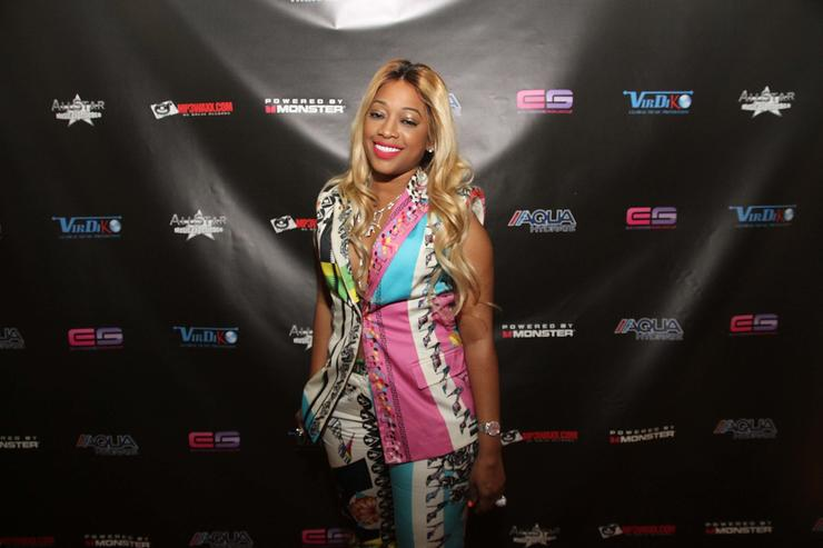 Trina attends the All Star Music Experience at Federal Ballroom on February 15, 2014 in New Orleans, Louisiana.