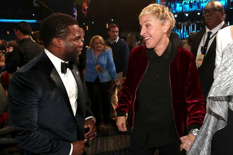 Ellen DeGeneres Faces Backlash For Defending Kevin Hart As Oscars Host