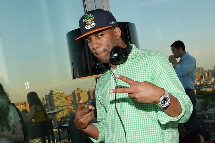 DJ Whoo Kid performs at the Reeve Foundation Champions Committee Summer Kick-Off Party on June 12, 2013 in New York City
