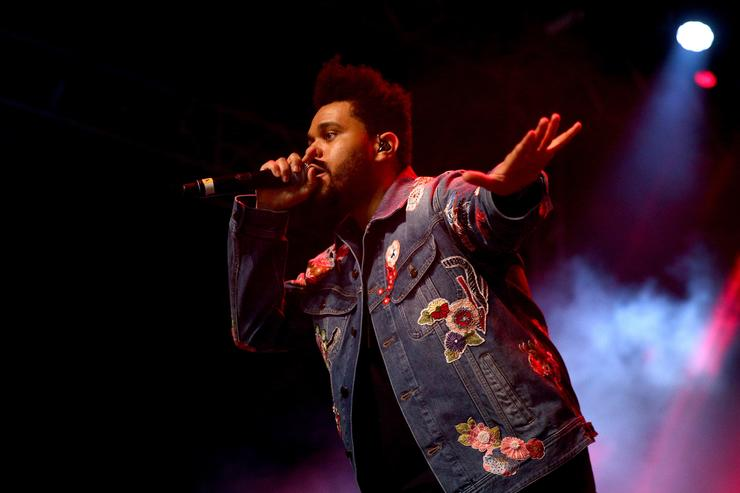 The Weeknd performs onstage at the Gobi tent during day 2 of the Coachella Valley Music And Arts Festival at Empire Polo Club on April 15, 2017 in Indio, California
