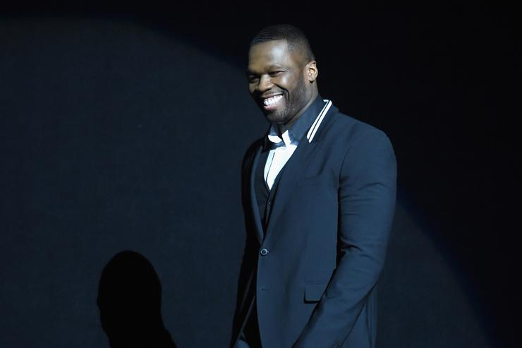 Curtis '50 Cent' Jackson III speaks onstage during 20th Century Fox Invites You to a Special Presentation Highlighting Its Future Release Schedule at The Colosseum at Caesars Palace during CinemaCon, the official convention of the National Association of Theatre Owners, on April 23, 2015 in Las Vegas, Nevada