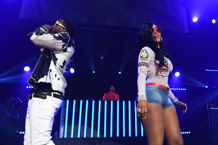 Gucci Mane and Keyshia Ka'oir performs on stage at Gucci and Friends Homecoming Concert at Fox Theatre on July 22, 2016 in Atlanta, Georgia