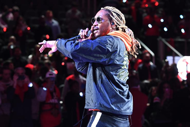 Rapper Future performs in concert after the game between the Dallas Mavericks and the Atlanta Hawks on October 24, 2018 at State Farm Arena in Atlanta, Georgia.