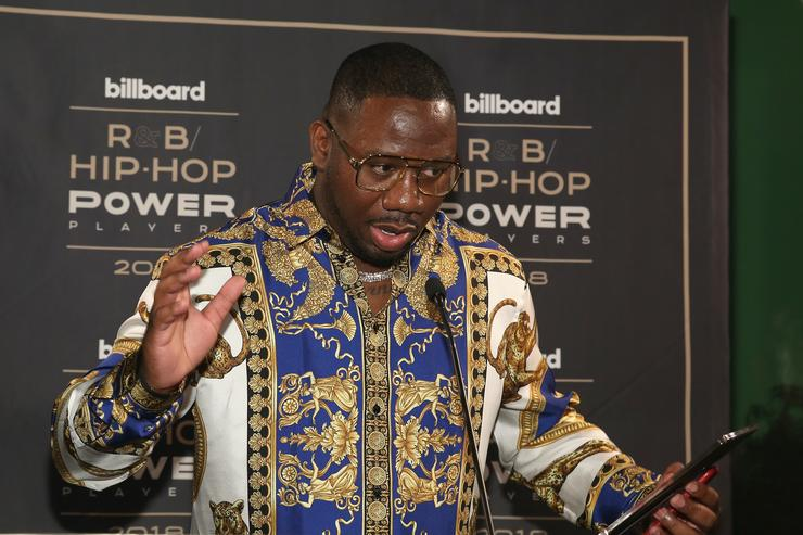 "Quality Control's Pierre ""Pee"" Thomas speaks onstage at the Billboard 2018 R&B Hip-Hop Power Players event at Legacy Records on September 27, 2018 in New York City."