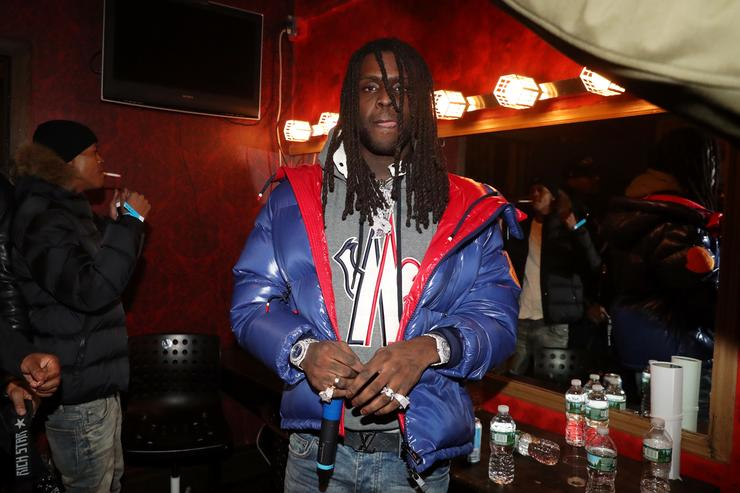 Recording artist Chief Keef backstage at Irving Plaza on October 30, 2018 in New York City.