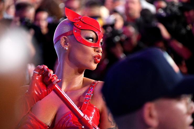 Amber Rose attends the 2018 MTV Video Music Awards at Radio City Music Hall on August 20, 2018 in New York City