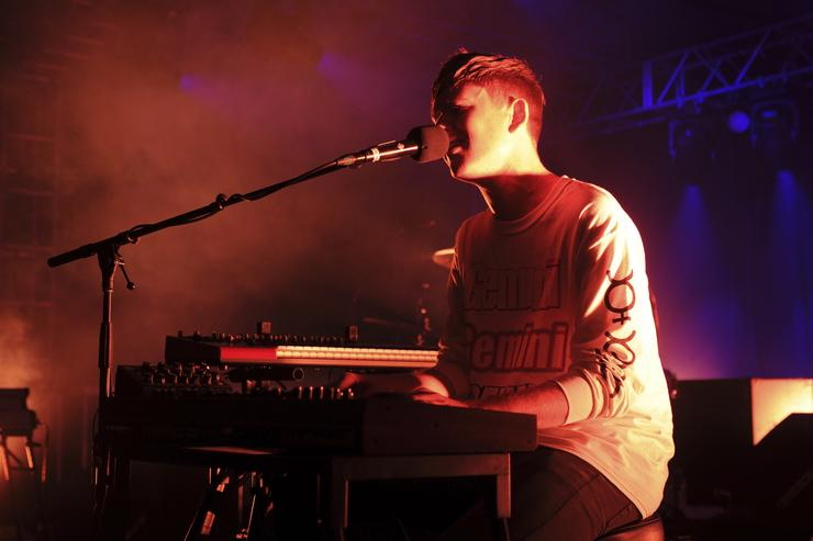 James Blake performs onstage during the YoungArts And III Points Concert Series on the YoungArts Campus December 5, 2014 in Miami, Florida