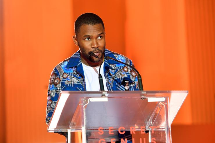 Frank Ocean speaks onstage at Spotify's Inaugural Secret Genius Awards hosted by Lizzo at Vibiana on November 1, 2017 in Los Angeles, California