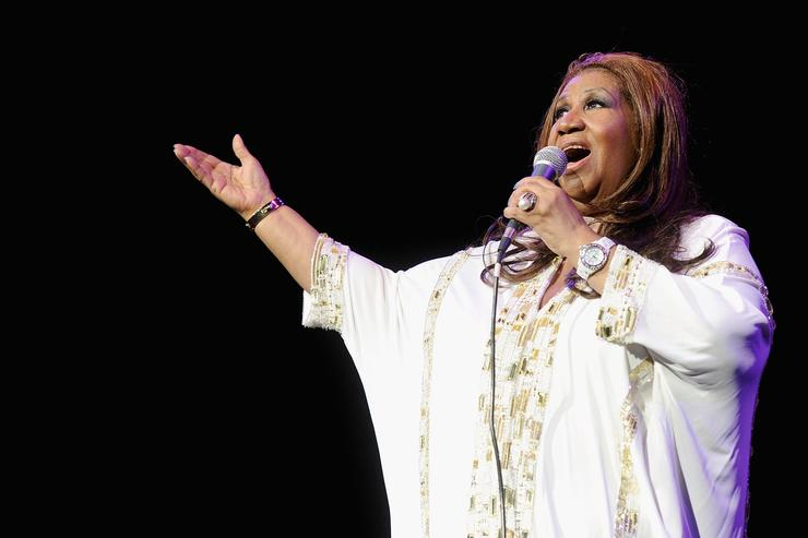 Aretha Franklin performs at Radio City Music Hall on February 17, 2012 in New York City.