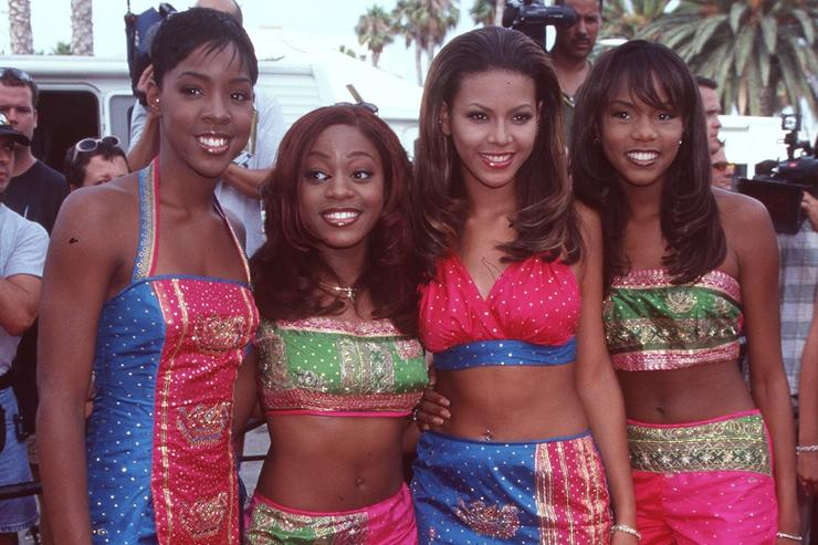 9/3/98 Los Angeles, Ca Destiny's Child, nominated for Best Group, at the Soul Train awards.