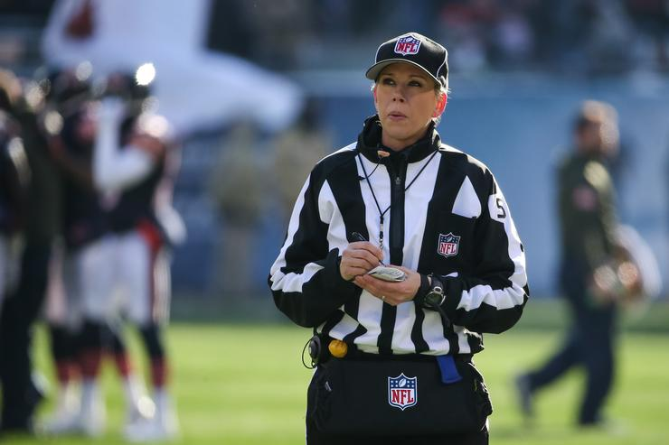 Thomas first female on-field NFL playoff game official