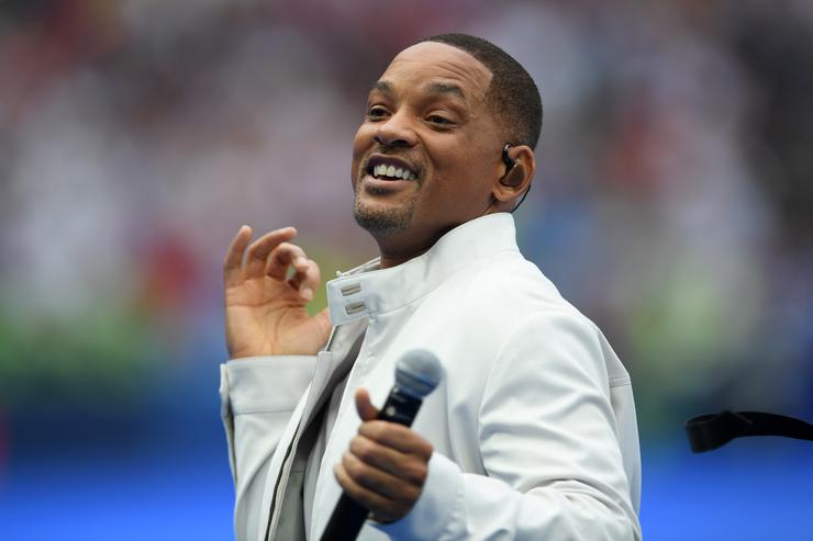 Will Smith performs during the closing ceremony prior to the 2018 FIFA World Cup Final between France and Croatia at Luzhniki Stadium on July 15, 2018 in Moscow, Russia