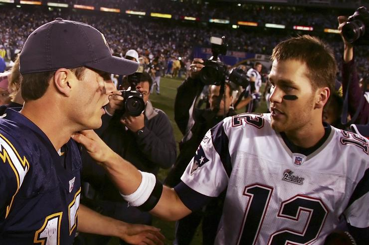 Philip Rivers and Tom Brady