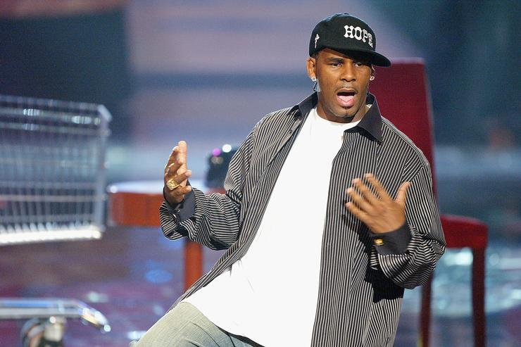 R. Kelly performing at soul train awards