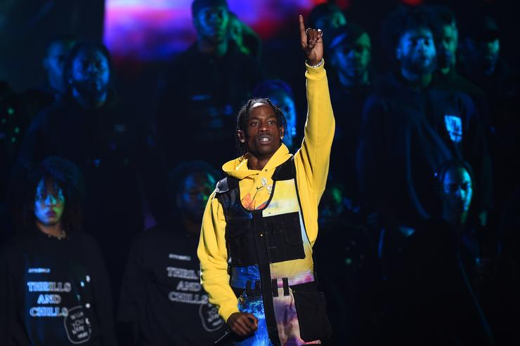 Travis Scott performs onstage during the 2018 MTV Video Music Awards at Radio City Music Hall