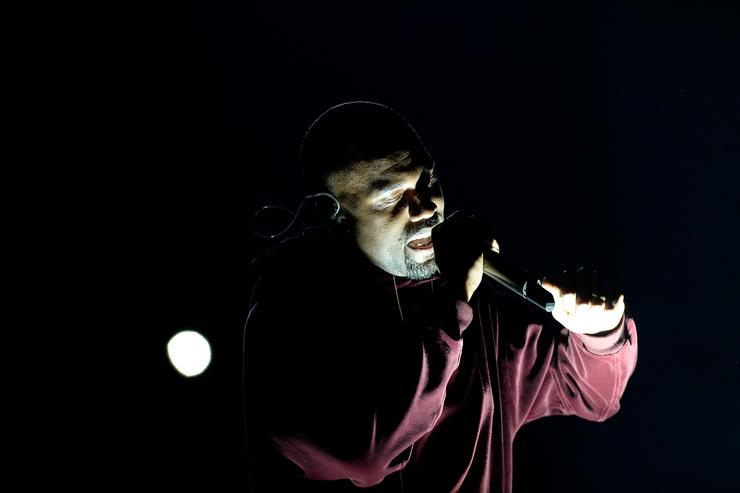 Kanye West performs 'Only One' onstage during The 57th Annual GRAMMY Awards at the at the STAPLES Center on February 8, 2015 in Los Angeles, California