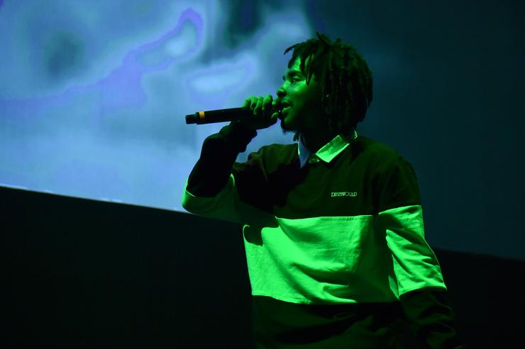 : Earl Sweatshirt performs onstage during Orion's Rise: A Special Performance with Solange and The Sun Ra Arkestra at Radio City Music Hall on October 3, 2017 in New York City