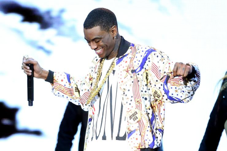 Rapper Soulja Boy performs onstage at the 3rd Annual Streamy Awards at Hollywood Palladium on February 17, 2013 in Hollywood, California.
