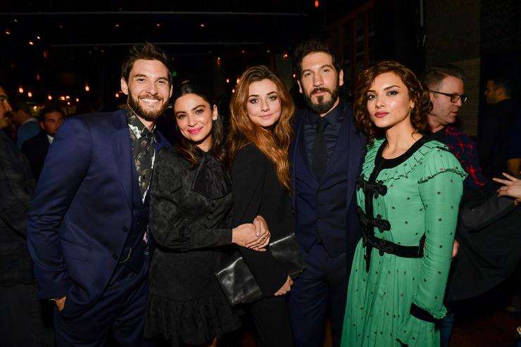 Ben Barnes, Floriana Lima, Giorgia Whigham, Jon Bernthal and Amber Rose Revah attends Marvel's 'The Punisher' Los Angeles Premiere at ArcLight Hollywood on January 14, 2019 in Hollywood, California.