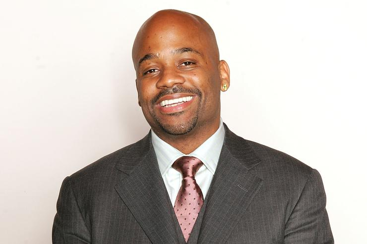 Damon Dash, CEO of Roc-A-Wear, Dash Music Group, and Dash Films poses for a photo prior to a press conference announcing a partnership with boxing promoter Lou Dibella to launch Dash/Dibella Promotions, a promotional company with an emphasis on marketing minority athletes January 26, 2005 in New York City