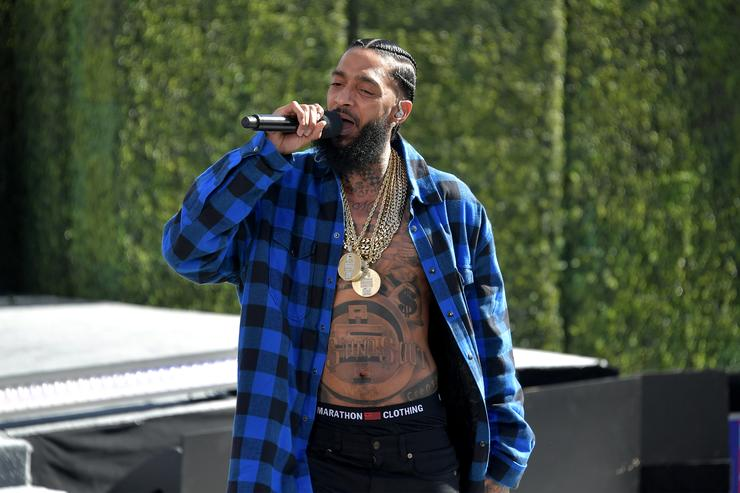 Nipsey Hussle performs onstage at Live! Red! Ready! Pre-Show, sponsored by Nissan, at the 2018 BET Awards at Microsoft Theater on June 24, 2018 in Los Angeles, California.