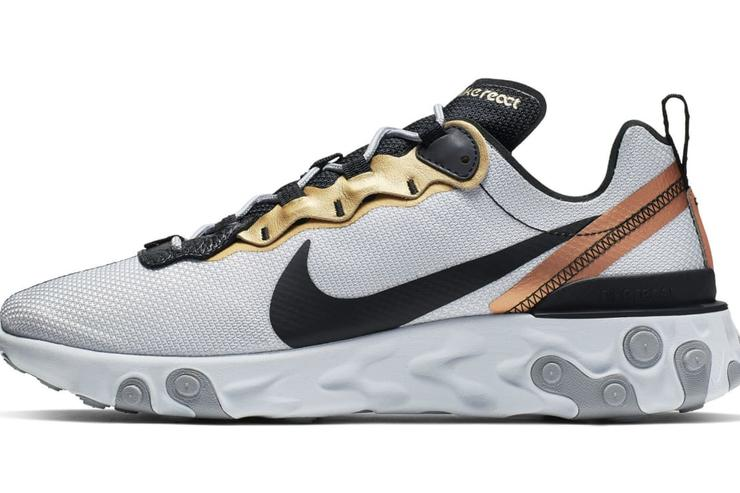 Metallic Gold Comes To The Nike React Element 55 cba1d5290