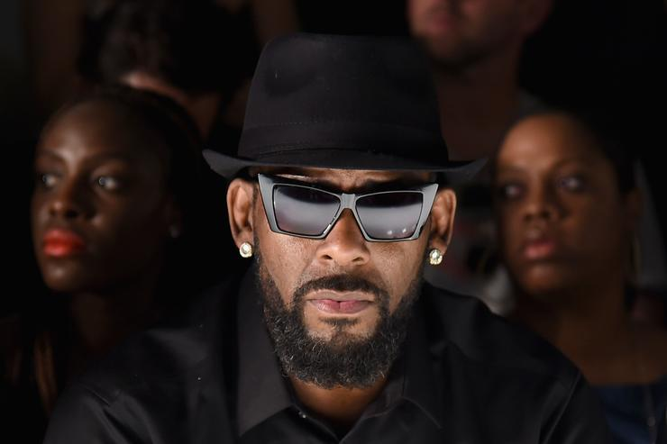 Singer R. Kelly attends the Ovadia & Sons front row during New York Fashion Week: Men's S/S 2016 at Skylight Clarkson Sq on July 14, 2015 in New York City.