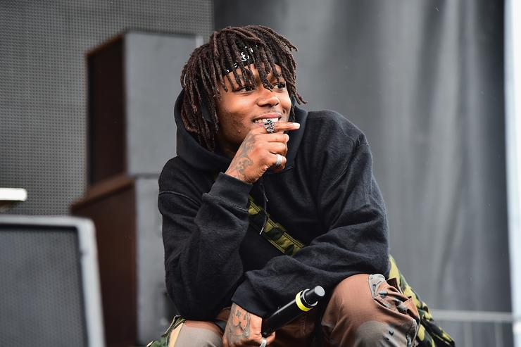 J.I.D. performs onstage during Day 2 of Billboard Hot 100 Festival 2018 at Northwell Health at Jones Beach Theater on August 19, 2018 in Wantagh, New York.