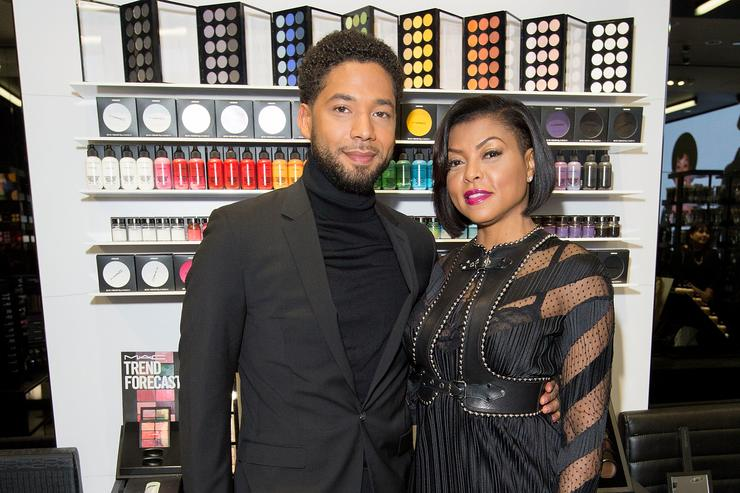 M.A.C. Viva Glam Spokespeople (R) Taraji P. Henson & (L) Jussie Smollett meet fans at M.A.C. Michigan Avenue Store in Chicago on February 13, 2017 in Chicago, Illinois.