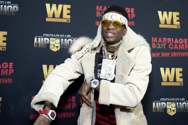 Soulja Boy attends the exclusive premiere for 'WE TV hosts Hip Hop Thursday's at Nightingale on January 09, 2019 in West Hollywood, California