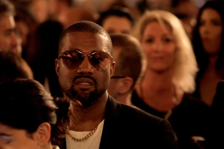 Kanye West attends the runway for Ralph Lauren fashion show during New York Fashion Week at Bethesda Terrace on September 7, 2018 in New York City.
