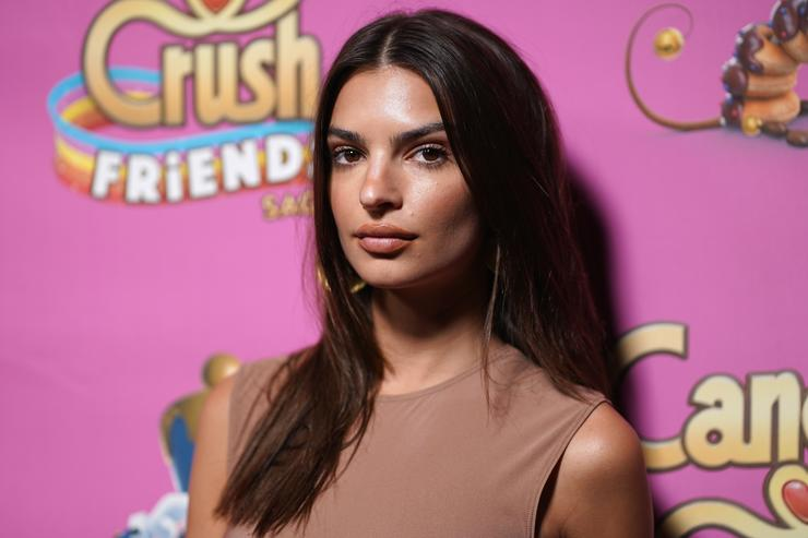 Emily Ratajkowski attends the Candy Crush Friends Saga Global Launch Event at Brookfield Place on October 11, 2018 in New York City