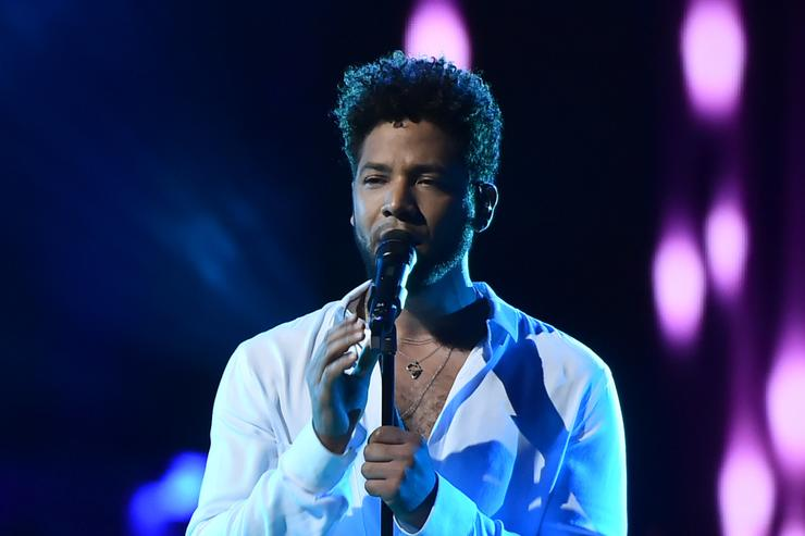 Jussie Smollett performs on stage during VH1 Trailblazer Honors 2018 at The Cathedral of St. John the Divine on June 21, 2018 in New York City.