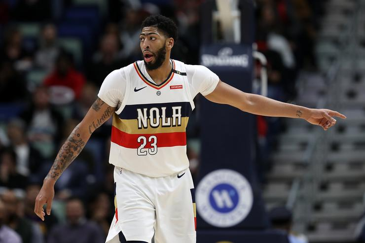 Anthony Davis Could Miss All-Star Game With Bruised Shoulder  Report 509b1aa72