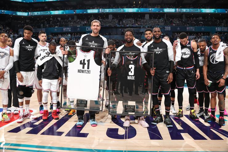 Dwyane Wade And Dirk Nowitzki Soak It All In At What Could Be Final  All-Star Game 86c6b9e14