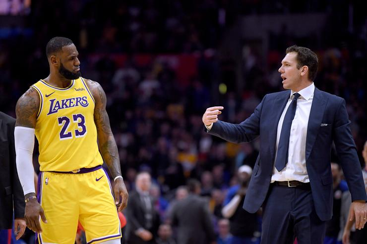 LeBron James & Luke Walton
