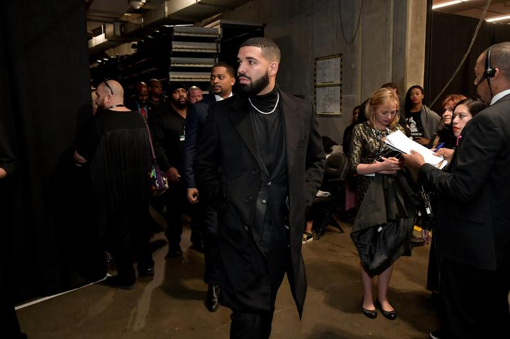 Drake backstage during the 61st Annual GRAMMY Awards at Staples Center on February 10, 2019 in Los Angeles, California.